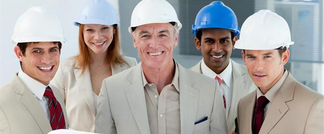 Business Workers in hard hats