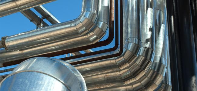plant room pipes and ducts