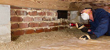 inspecting crawl space